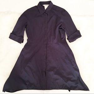 MaxMara navy blue cuffed sleeve dress 12